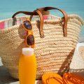 kit di cosmetici da spiaggia