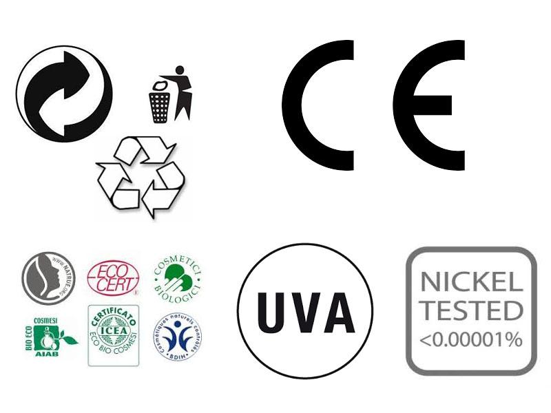 simboli dell'etichetta dei cosmetici